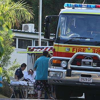 Emergency crews help Burnside High School students after an explosion during a home economics class. Photo: Jason Dougherty/175020a