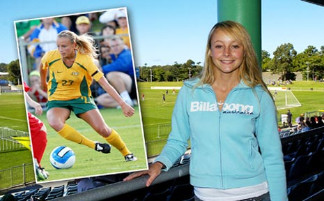 Jenna Tristram - back in the green and gold.