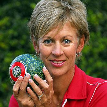 Noosa's Julie Keegan has won her third state lawn bowls title. Photo: Geoff Potter/n20602b