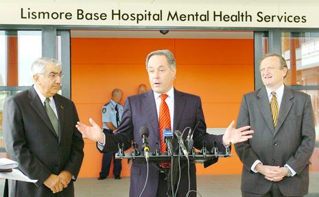 NSW Premier Morris Iemma officially opens Lismore Base Hospitals new $38 million mental health unit.