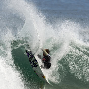 Julian Wilson in action off the French coast.