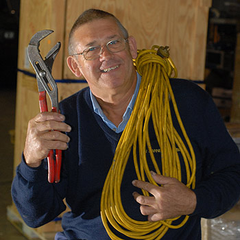 Rex Barnes has offered $120 worth of plumbing for free to pensioners. Photo: Warren Lynam/175086