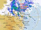 A Bureau of Meteorology radar image showing the heavy rain soaking the south-east.