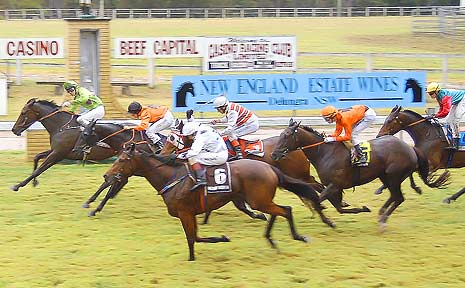 Miss Sarah Jane takes out the $17,000 Casino RSM Beef Week Cup (1400m).