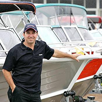 Shawn Price from Sunshine Coast Marine Centre. Photo: Brett Wortman/175117