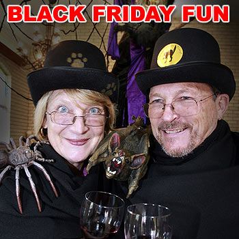 Little Morgue winery owners Hannah and Michael Van Der Merwe are in a dark mood for Black Friday on June 13.