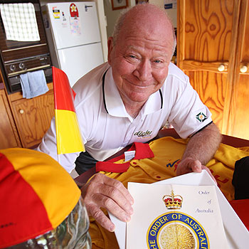 Doug Boulton has been awarded an Order of Australia medal for his work with surf lifesaving, which began when he joined the old north Caloundra club in 1958.