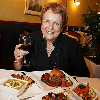 Lyn's Place owner Lyn Howard with a selection of courses you will find on the winter menu. Photo: Nicholas Falconer/175210