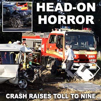 The scene of yesterday's fatal crash on Elm Street, near Six Mile Creek, at Cooroy. Photo: Jason Dougherty/175386e