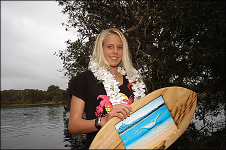 THE WINNER: Laura Enever was the winner of the All Girls Surf Showdown held over the long weekend.