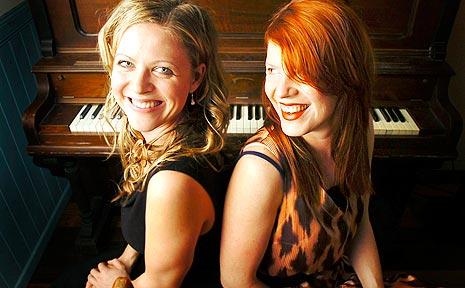 Scarlett Affection duo Nerida (left) and Melia Naughton of Bangalow.