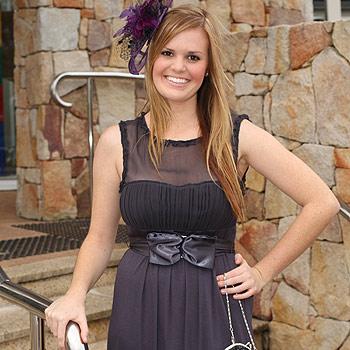 Faye Rolph Models' Laura Jensen wears Cooper Street dress, $139, and Jendi fascinator, $55, from Sesheke Boutique, Chancellor Park.