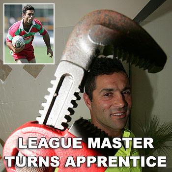 Former rugby league great Craig Polla-Mounter has taken on a plumbing apprenticeship. Photo: Brett Wortman/175449