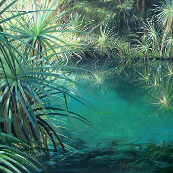 Pandanus Reflections by Darwin artist, Kelli Mac, donated to Camp Quality.