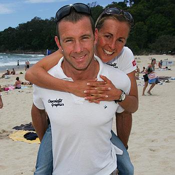 Craig Walton and Emma Snowsill in Noosa at the Triathlon Multi Sports Festival. Photo: Brett Wortman/bw170163p