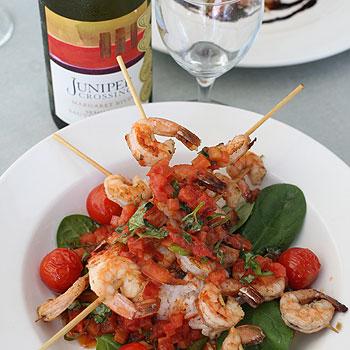 Kawana Island's The Islander Beach Cafe has a range of fresh seafood dishes on its menu.