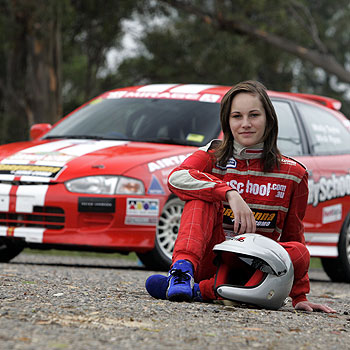 Rally driving sensation Molly Taylor, 19, is competing in the Sunshine Coast leg of the Coates Queensland Rally. Photo: Cade Mooney.