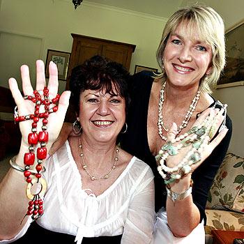 Lia Plasier and Sally Free, the creators of jewellery label Salia.