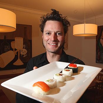 Ben Pound at his new Buderim restaurant, Fusion. Photo: Nicholas Falconer/175366