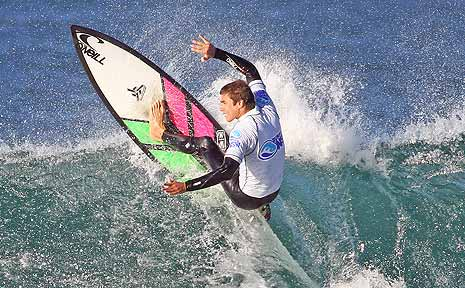 Stephen Walsh, of Lennox Head, shows his style at Maroubra Beach in Sydney.