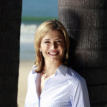 Host of television current affairs show Today Tonight, Anna Coren, at Mooloolaba. Photo: Barry Leddicoat/175377