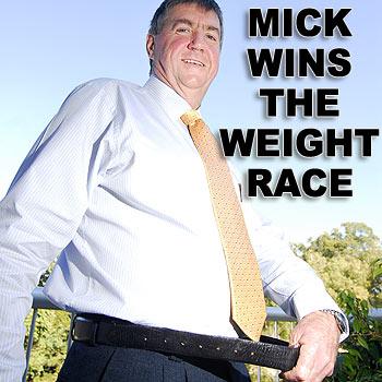 Sunshine Coast Turf Club chief executive Mick Sullivan lost 26kg in 20 weeks. Photo: Che Chapman/175681