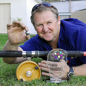 Doonan inventor Stuart Little will compete in the final of the ABC TV show New Inventors with his solution to twisted fishing lines. Photo: Geoff Potter/N20931