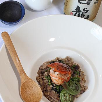 Redclaw zou sui, courtesy of Wasabi chef Shinichi Maeda.