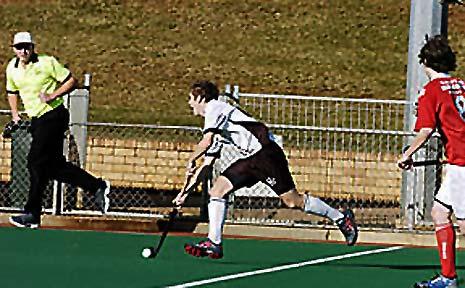 Northern Star's Matt Harmon flys up the wing against Waratahs at Hepburn Park on Saturday.