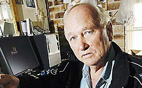 Bert Elliott from Summerland Antiques is not happy about receving a final notice bill for artwork concerning a free magazine advertisement.