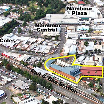 Nambour's Centenary Square site is up for sale.