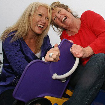Tanya Heidke and Reen Bryant know that keeping active is one way to stay happy. Photo: Robyne Cuerel