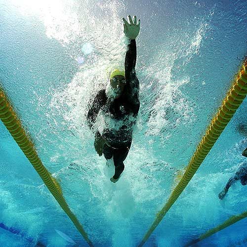 Australian Olympic swimmers like Ian Thorpe have worn full-body swimsuits to boost their performances. Photo: Getty Images