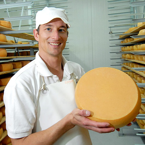Christian Nobel opened his cheese-making business in Eudlo two years ago. Photo: Nick Falconcer