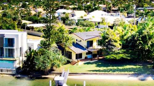 42 metres of water frontage and sandy beach complete with a perfect north-east aspect.