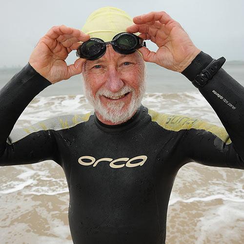 Retired Currimundi Special School swimming therapy teacher Barry Blackwell is lining up again to do the Mudjimba Island Charity Swim. Photo: Brett Wortman/177235