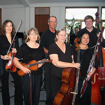 Members of the Sunshine Coast Symphony Orchestra.