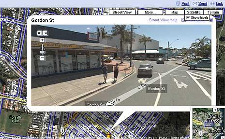 Google Street View of Gordon Street, Coffs Harbour.