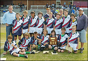 STATE CHAMPS: Pictured is the Holy Family Primary School rugby team which won the NSW Catholic Primary Schools Rugby Championsh