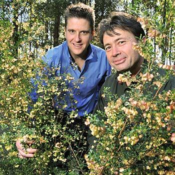 Council Manager of Parks and Bushland Services, Nick Coluccio (left), with Bushland Operation Supervisor, Peter Nagel, at the Maroochy Botanic Gardens. Photo: Brett Wortman / Sunshine Coast Daily