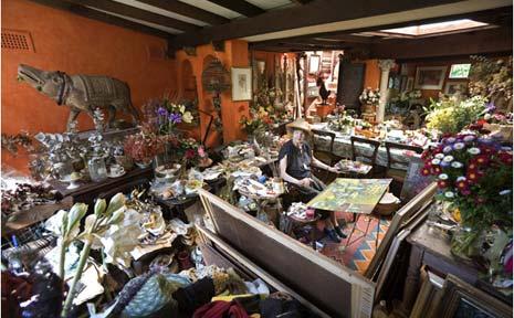 Margaret Olley at her Lismore home/studio.