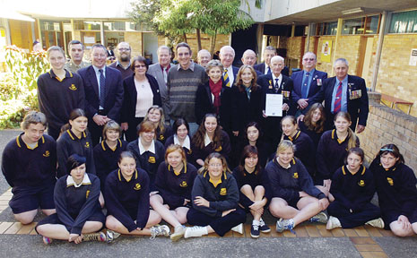 Lismore High School Choir has been recognised for 50 years of service.