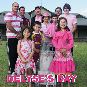 Delyse' Shearer's extended family and Coolum Colts president Quinton Stevenson prepare for Saturday's pink day in her memory.  Photo: Mike Garry/scw1045