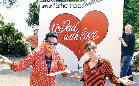 Getting ready for the fifth annual Fatherhood Festival at Bangalow.