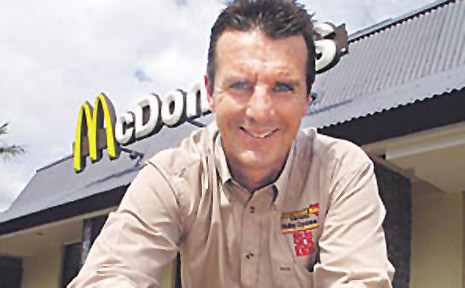 Ballina McDonald's franchisee Scott Campbell who set out on a Ride for Sick Kids on Sunday that will take him from Inverell to Newcastle.