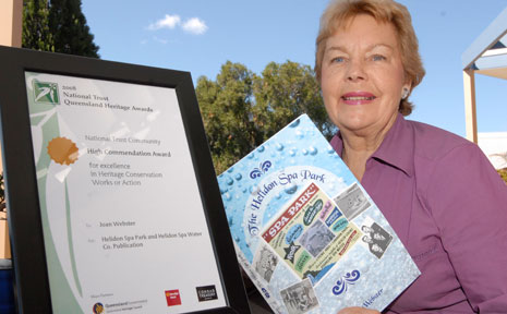 Joan Webster author of the Helidon Spa Book won a National Trust award.