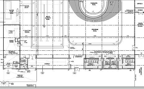 Plans of the Goonellabah Aquatic Centre.