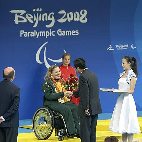 Maroochydore Paralympian Marayke Jonkers won a Paralympic silver medal in the 150m individual medley.