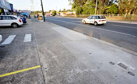 Scene of the attack. The Pacific Highway in Coffs Harbour