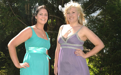 Lismore Norco North Coast National Miss Showgirl entrants (l-r): Carina Cittolin (19) of Rock Valley and Imogen Duggan (18) of Lismore.